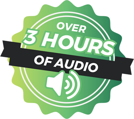 Over 3 hours of audio